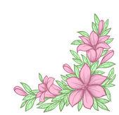 Oddział z kwiatami — Wektor stockowy
