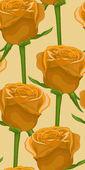 Vertikala sömlös bakgrund med gula rosor垂直无缝背景与黄玫瑰. — 图库矢量图片