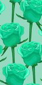 Vertical fond transparente avec des roses bleues. dans le style ancien — Vecteur