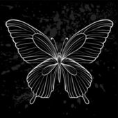 Graphic black and white butterfly. — Wektor stockowy