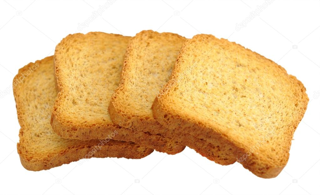 Toasted bread isolated on a white background — Stock Photo #12130045