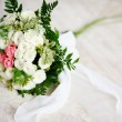 Стоковое фото: Wedding bouquet of white and pink roses