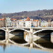 Royalty-Free Stock Photo: Jirasek bridge on Vltava river, Prague