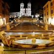 Piazza di Spagna and Spanish steps, Rome, Italy - Stock Photo
