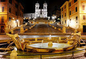 Piazza di Spagna and Spanish steps, Rome, Italy — Stock Photo