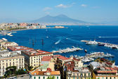 Wonderful Naples panoramic view with Vesuvius — Stock Photo