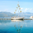 Beautiful boat in the sea of Gaeta, Italy — Stock Photo