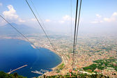 Beautiful Naples Bay view from Faito cableway — Stock Photo