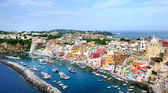 Procida island panoramic view in Naples Gulf — Stock Photo
