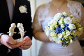 Bride and groom during the wedding ceremony — Stock Photo