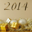 Happy new year 2014 - Christmas decoration — Zdjęcie stockowe