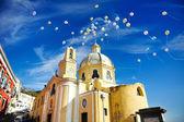 Beautiful panoramic view  church of Procida — Zdjęcie stockowe