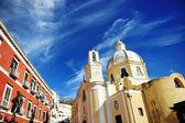Piękny panoramiczny widok Kościoła Procida — Zdjęcie stockowe