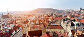 Prague panoramic view from Old Town Tower — Foto Stock