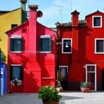 Venice, Burano island, colorful houses, Italy — Stock Photo #46368835