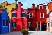 Venice, Burano island, colorful houses, Italy — Stock Photo