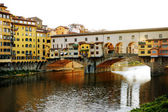 Old bridge (Ponte Vecchio) over Arno river, Florence, Italy — Stock Photo