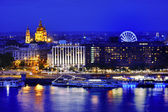 Budapest panoramic view at blue hour, Hungary, Europe — Stock Photo