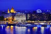 Budapest panoramic view at blue hour, Hungary, Europe — Stock Photo