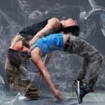 Passion dance couple. — Stock Photo