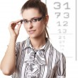 At the Optician - Stock Photo