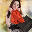 Beautiful young women shopping — Stock Photo
