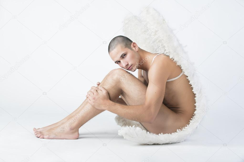 Handsome male angel. Shot in a studio.  — Stock Photo #13159448