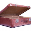 Vintage brown suitcase isolated over white background — Stock Photo #13160565