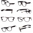 Classic black eyeglasses set  — Foto de Stock
