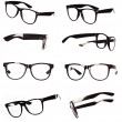 Classic black eyeglasses set  — Foto Stock