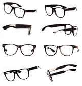 Classic black eyeglasses set — Stock Photo