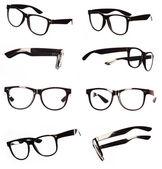 Classic black eyeglasses set — Stock Photo