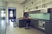 Modern minimalism style kitchen interior — Stock Photo