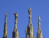 Milan cathedral spires — Stock Photo
