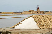 Marsala saline — Stock Photo