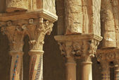 Monreale cloister — Stock Photo