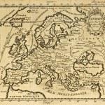 Старая карта Европы — Стоковое фото