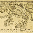 Italy old map — Stock Photo #12225383