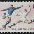 Soccer postage stamp — Stock Photo
