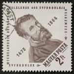 Постер, плакат: Michelangelo postage stamp