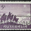 Stock Photo: Magi postage stamp