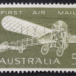 Old plane postage stamp — 图库照片