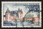 Loire castle postage stamp — Stock Photo