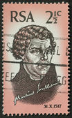 Martin Luther postage stamp — Stock Photo