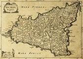 Mapa stary sycylia 2 — Zdjęcie stockowe