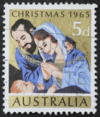 Nativity postage stamp — Stock Photo