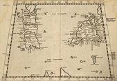 Sicily and Sardinia old map — Stock Photo