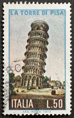 Torre di Pisa postage stamp — Stock Photo