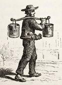 Franska vatten-bärare — Stockfoto