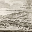 Messina and Etna old map — Stock Photo #13290388